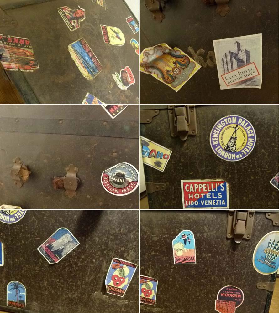 【代引き不可】ビンテージ トランク 船箱 コーヒーテーブル 収納 店舗什器 【中古】【送料無料】