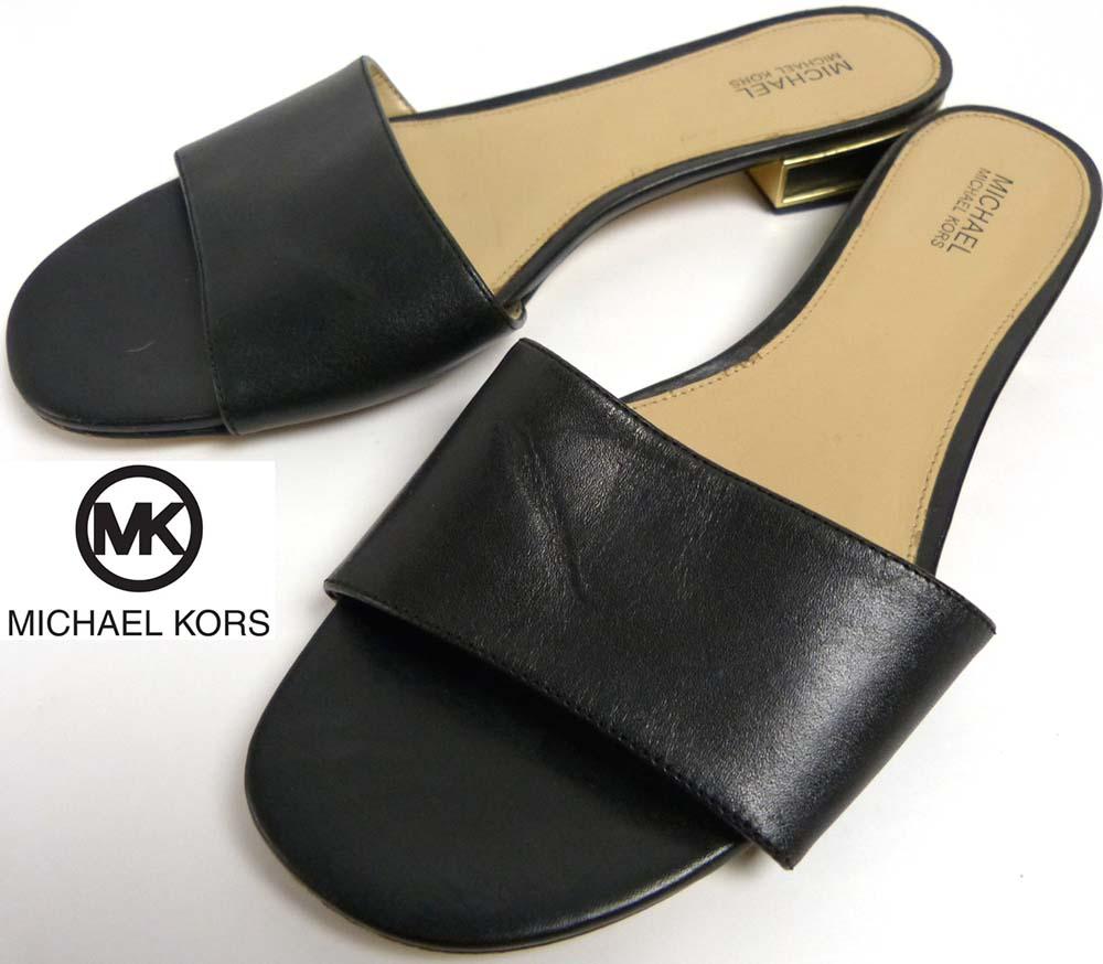 マイケルコース MICHAEL KORS レザーサンダル 8M(25cm相当)(レディース)【中古】
