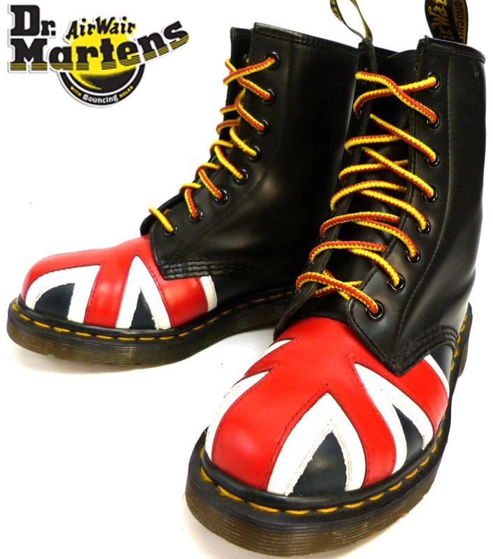 ユニオンジャック柄ドクターマーチン Dr.Martens 8ホールブーツ UK3(21.5cm相当)【中古】【送料無料】