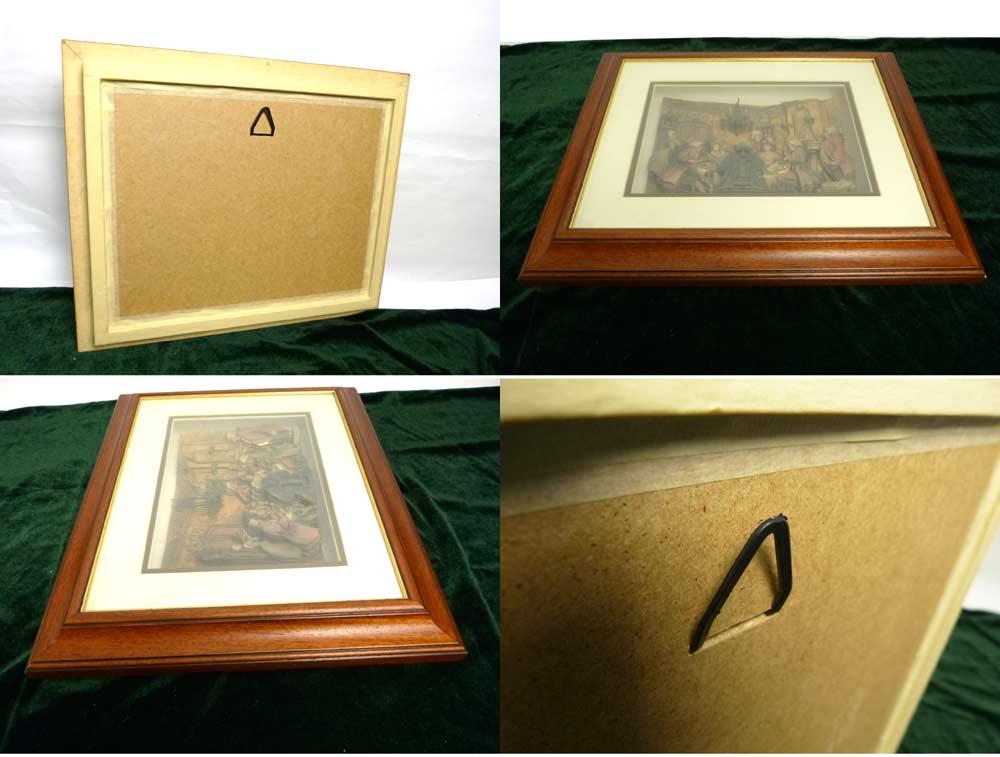 ANTON PIECK アントンピック シャドーボックス 3D絵画 立体的絵画 木製額縁 インテリア 【中古】