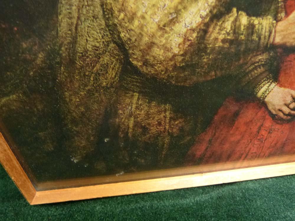 レンブラント・ファン・レイン 「 ユダヤ人の花嫁」印刷物 額装【中古】
