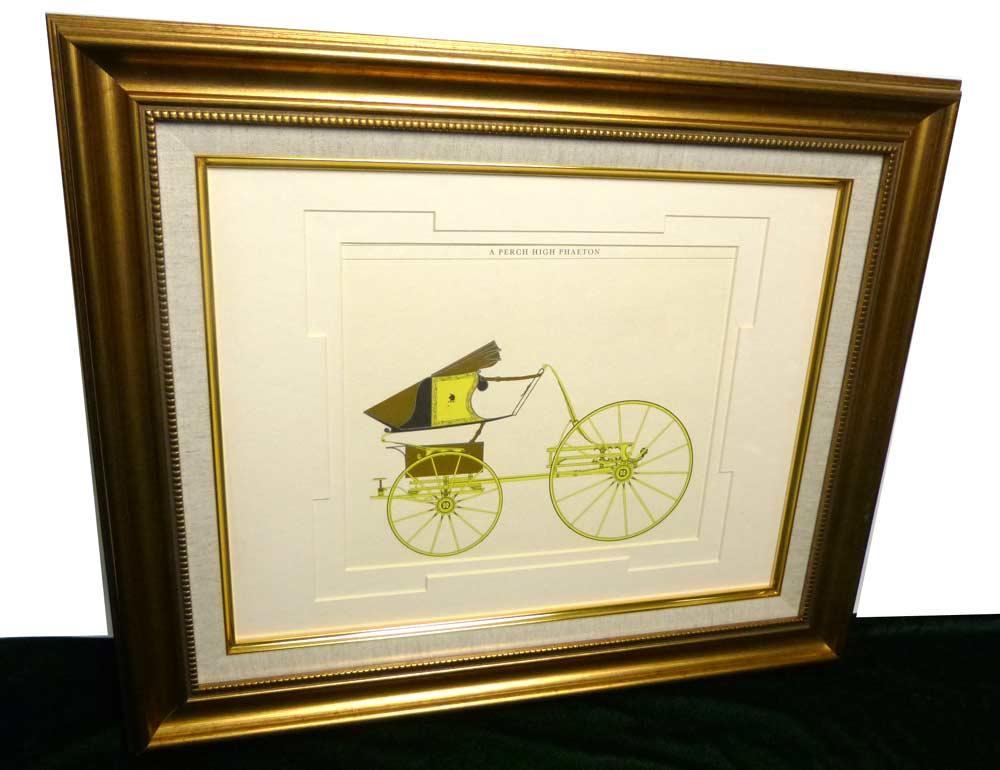 1794年型 Feltons Carriages フェルトンズ・キャリッジズ  印刷物 / ポスター 木製 額装(油彩額縁F6/6号)【中古】