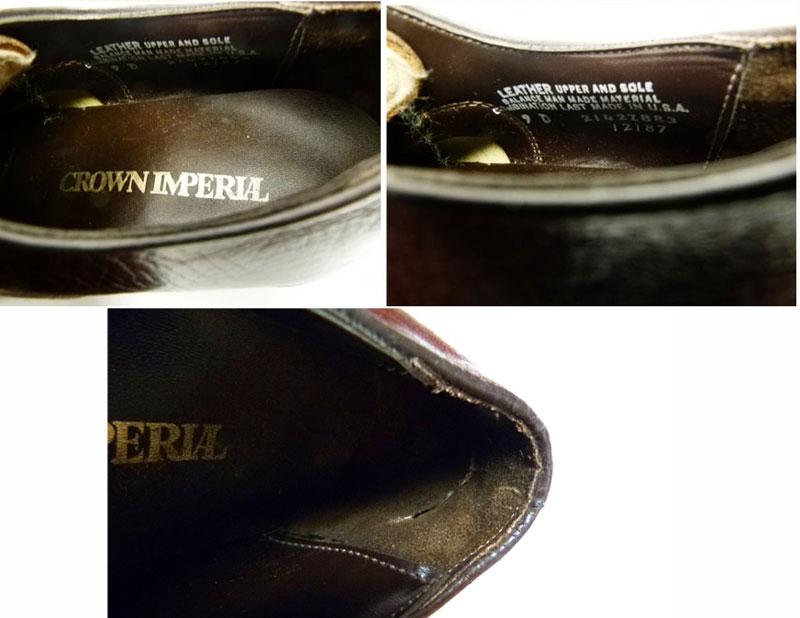 【希少】1970年代製 クラウンインペリアル CROWN IMPERIAL プレーントゥシューズ 9D(27cm相当) ( メンズ )【中古】【送料無料】