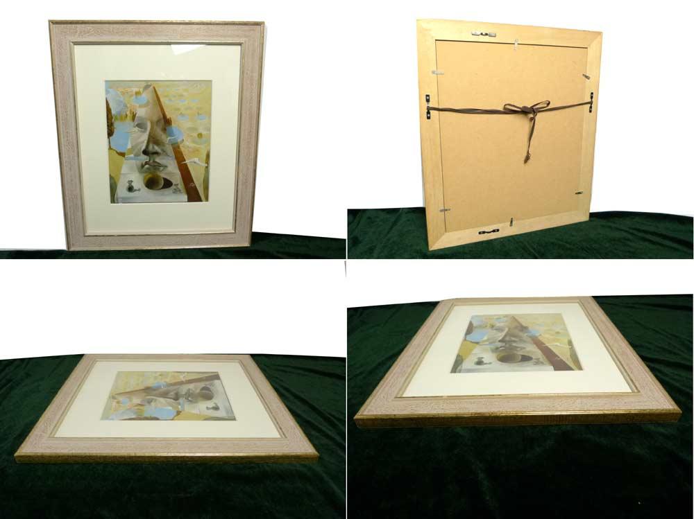 サルバドール・ダリ / Salvador Dali  / 風景の中に出現したクニドスのアフロディアの顔   / 画集 額装【中古】