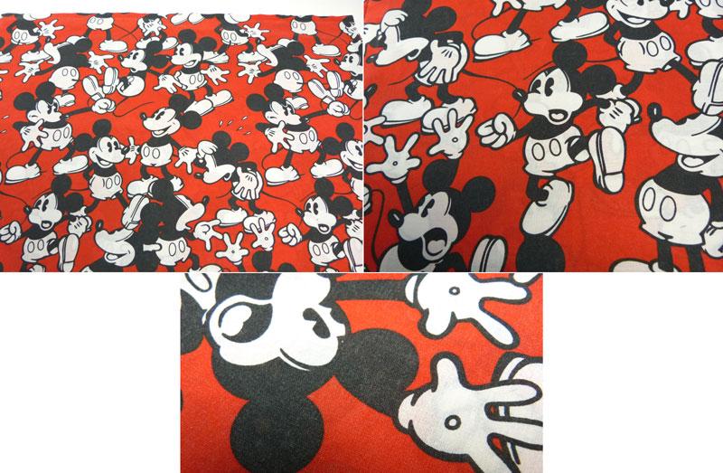 ディズニー ミッキーマウス キャラクター ビンテージ フラットシーツ(245×160cm)【中古】【リメイク素材】