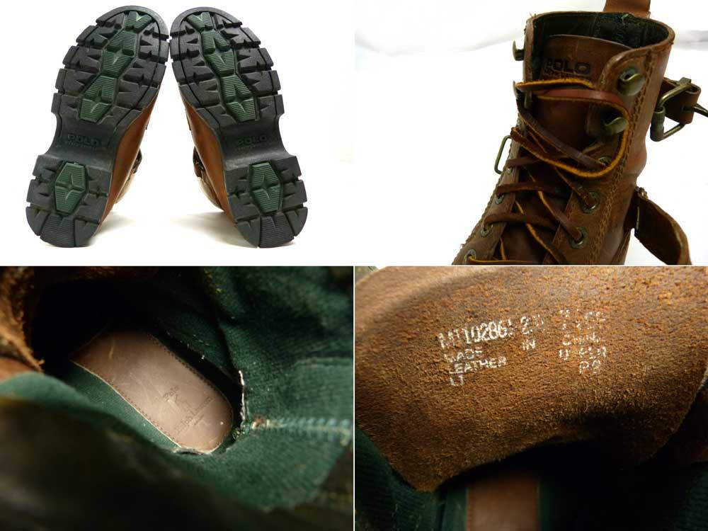Polo Ralph Lauren ポロ ラルフローレン モカシンレザーブーツ (25.5-26cm相当)【中古】