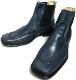 【未使用】イタリア製 STEFANO BONFIGLIOLI  / ステェファノ ボンフィリオーリ スクウェアトゥ サイドゴアブーツ 40(25cm相当)(メンズ)(デッドストック)【中古】