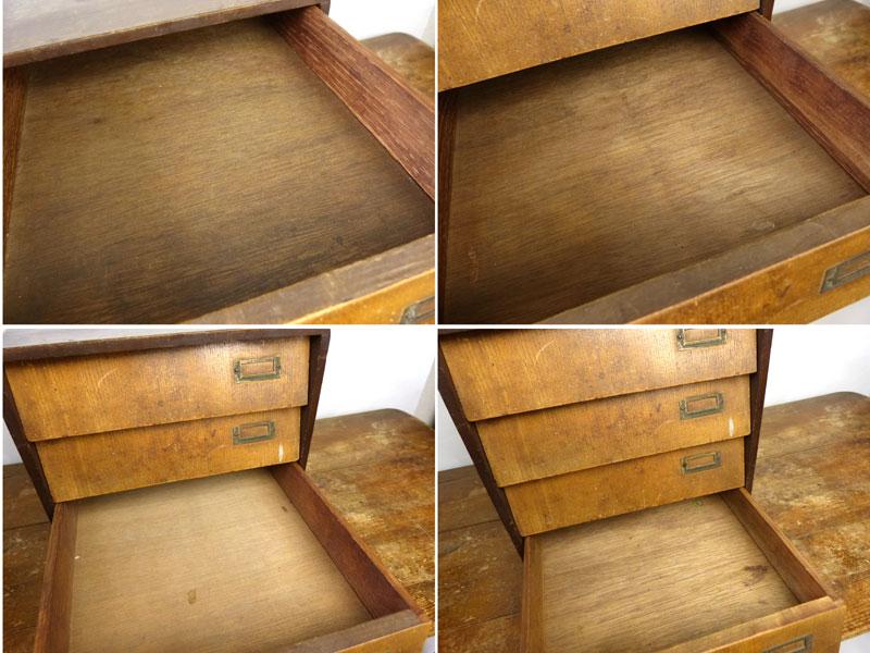 昭和レトロ 木製の小引出し 4杯 小箪笥 引き出し アンティーク【中古】