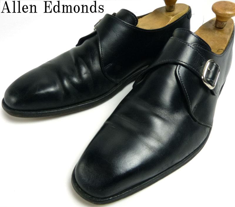 【訳あり】USA製 Allen Edmonds アレンエドモンズ Boston モンクストラップシューズ 11D (29cm相当)(メンズ)(ビッグサイズ)【中古】