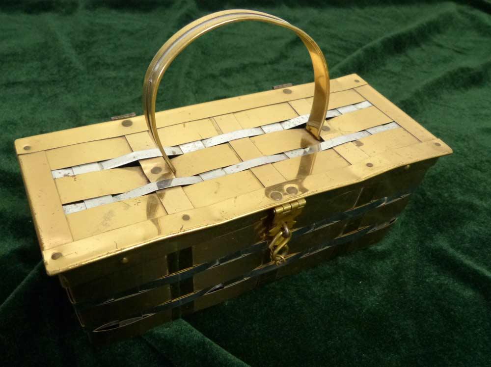 【希少】1950−60sビンテージ メタルバッグ ルーサイトバッグ USA直輸入【中古】