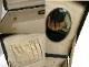 ミニミニ スーツケース / トランク / コスメボックス (黒)ビンテージ 小物入れ【中古】