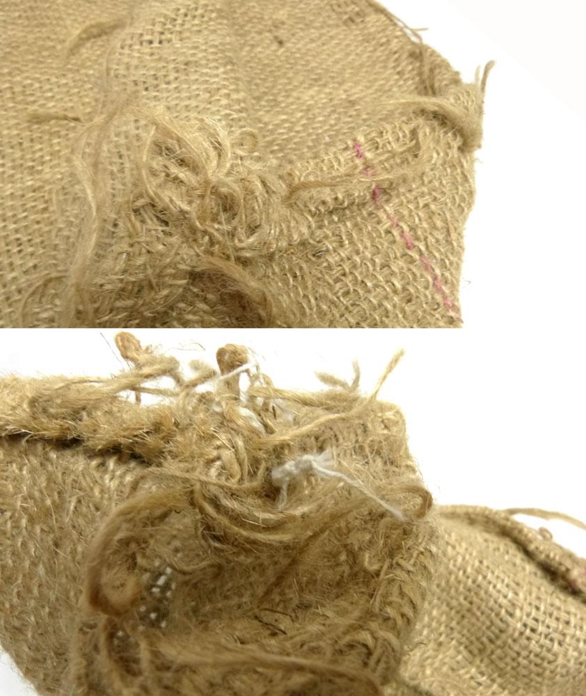 コーヒー豆 麻袋 ヘンプバッグ / 収納袋 / インテリア / リメイク用 / ドンゴロス(84×67cm)【中古】