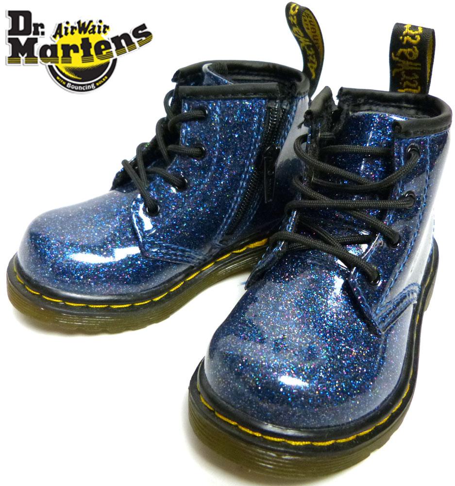 キッズ用 Dr.Martens ドクターマーチン ブーツ UK5(13−13.5cm相当)(青)【中古】