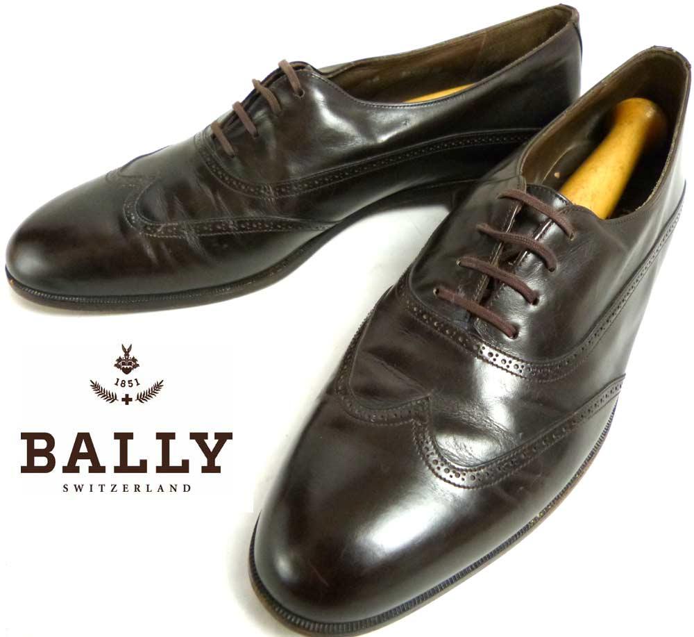 スイス製 BALLY バリー ウイングチップシューズ 9 1/2B(26.5-27cm相当)(メンズ)【中古】