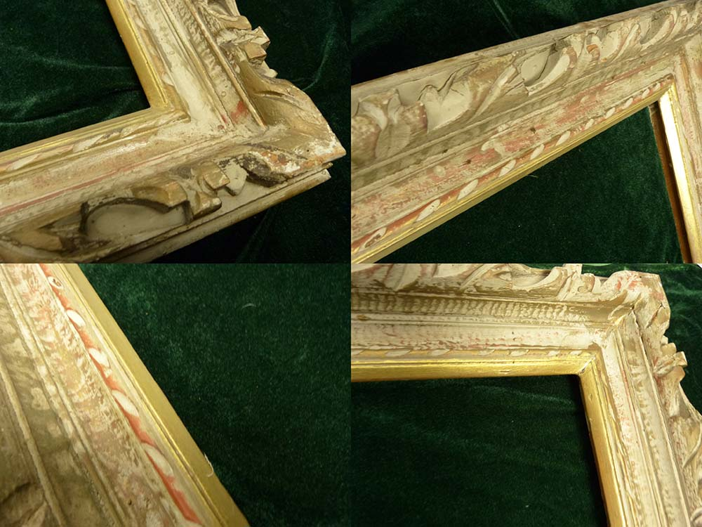 レトロ ヴィンテージ オールド シャビーな額縁 木製フレーム 油絵10号 / F10 (インテリア用品)【中古】