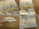 作者不明 風景/油絵/ 油彩画 / 板絵/アート(12.7×15.4cm)【中古】【メール便対応可】