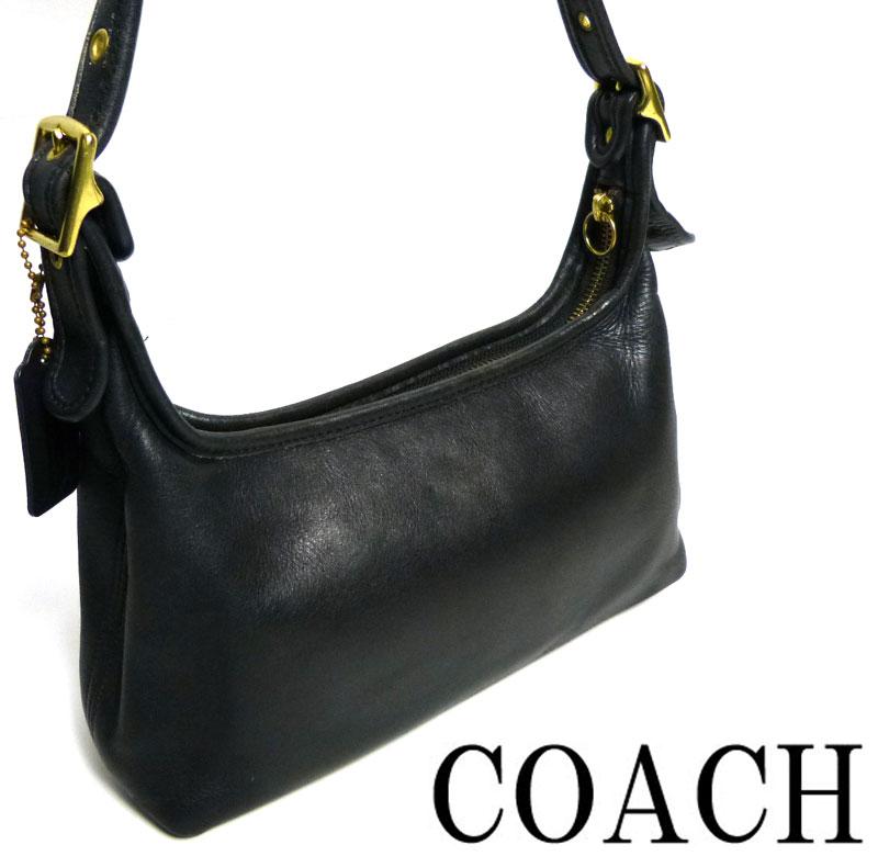 オールドコーチ 本革レザー トートバッグ OLD COACH (黒/ブラック)【中古】【送料無料】