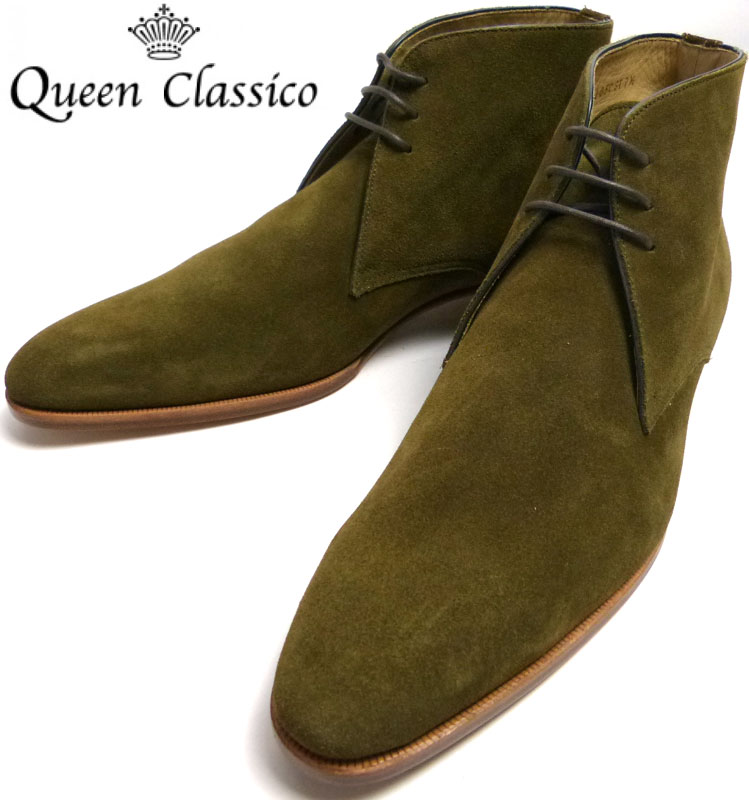 クインクラシコ QueenClassico スエードチャッカブーツ 7 1/2(25.5cm相当)( メンズ )(デッドストック)【中古】