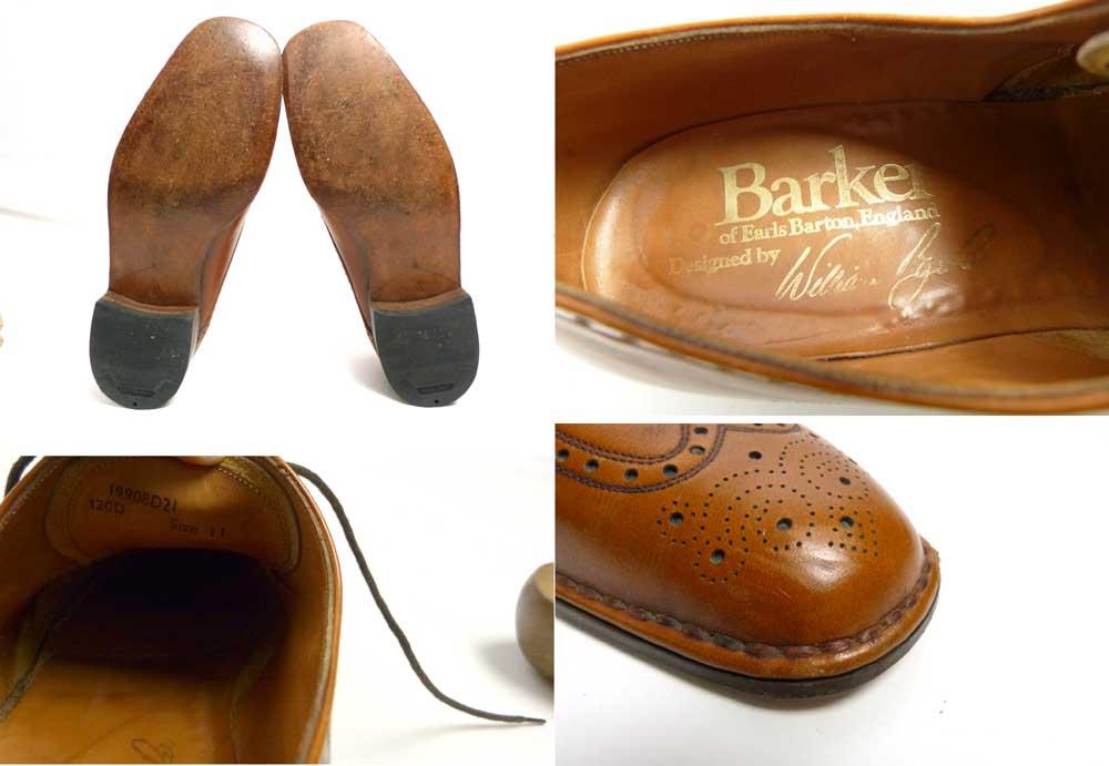 英国製 BARKER バーカー ウイングチップシューズ 11D(29-29.5cm相当)(メンズ)【中古】【送料無料】
