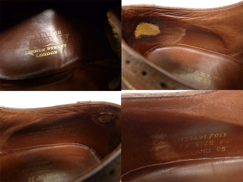 英国製 Charles Tyrwhitt チャールズティアウィット ウイングチップシューズ 9 1/2(28cm相当)(メンズ)【中古】