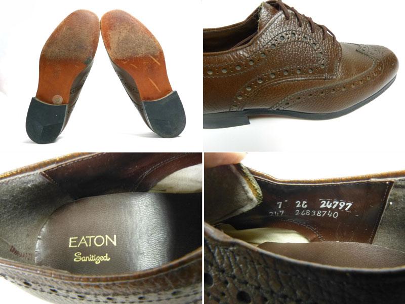 EATON ウイングチップシューズ 7 2E(25~25.5cm相当)(メンズ)【中古】