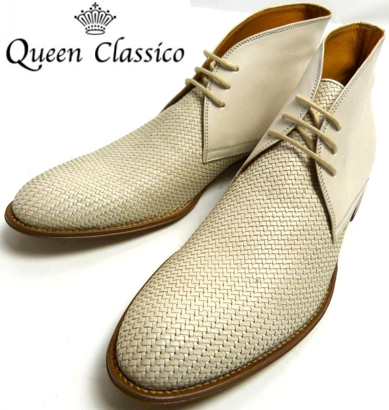 イタリア製クインクラシコ QueenClassico レザーチャッカブーツ 41(26.0〜26.5cm相当)( メンズ )【中古】