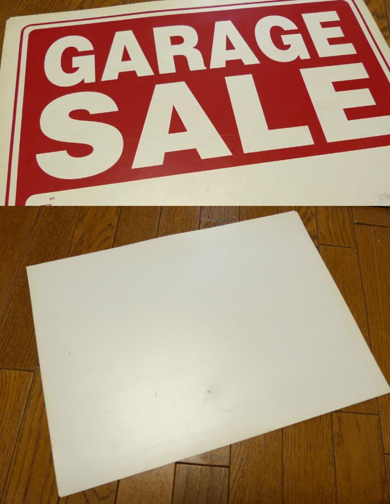 USA直輸入USA製 サインプレート / 看板 「GARAGE SALE」(Made in USA )【中古】
