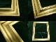 レトロ ヴィンテージ オールド シャビーな金色額縁 フレーム  (インテリア用品)【中古】