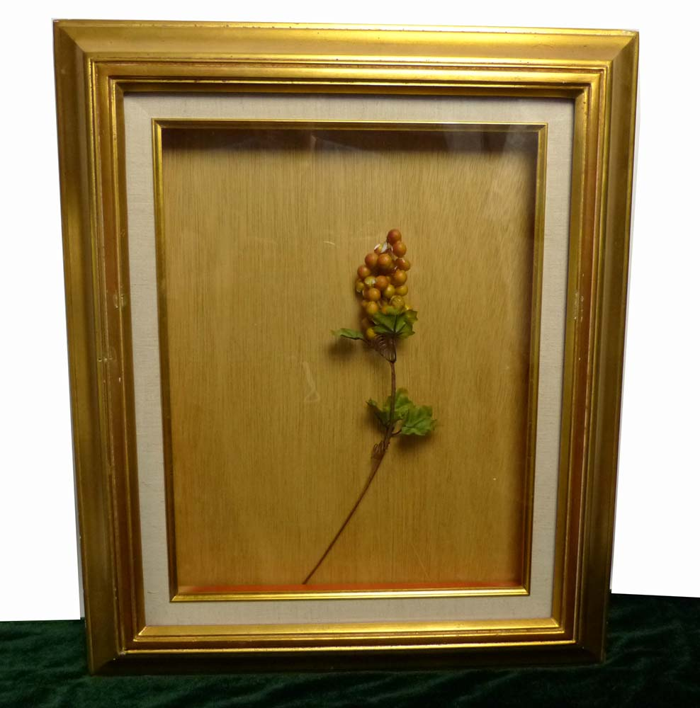 レトロ ヴィンテージ オールド シャビーな金の額縁 木製フレーム 油絵6号 / F6 (油彩額縁)【中古】