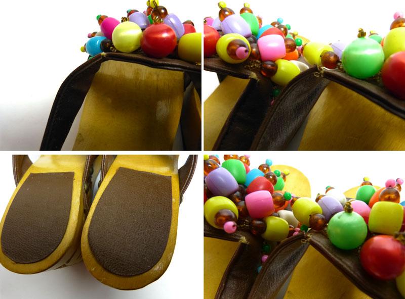 ビーズ飾り 木製サボサンダル  (23~23.5cm相当)( レディース)【中古】