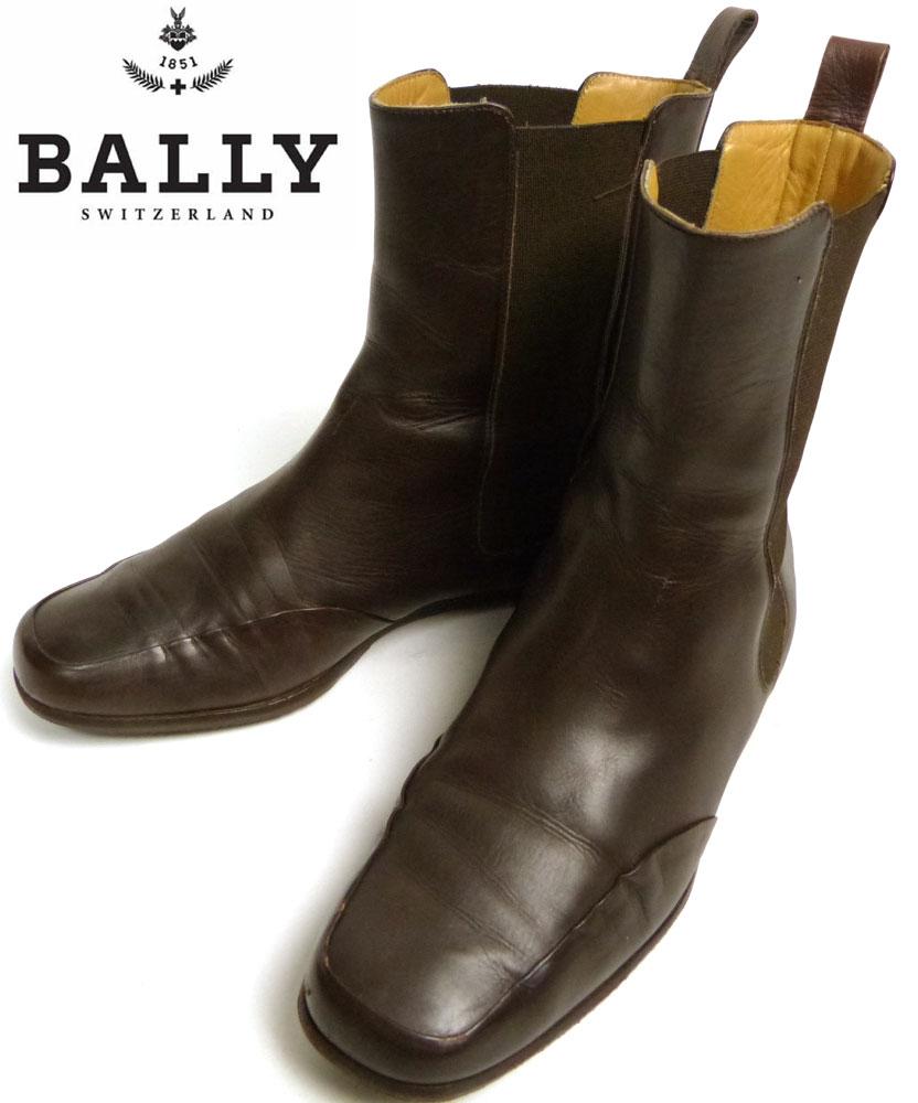 イタリア製 バリー BALLY サイドゴアレザーブーツ 37 1/2(23.5cm相当)(レディース)【中古】
