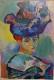 アンリ・マティス「帽子の女」 /ポスター(印刷物) /額装 /額縁 A4サイズ【中古】