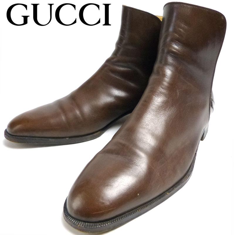 イタリア製 OLD GUCCI オールドグッチ ジョッパーブーツ 44 (29cm相当)(メンズ)【中古】【送料無料】