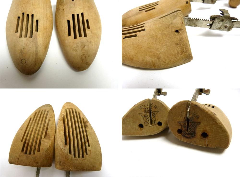 アンティーク ビンテージ レザー ミニトランク / オールド スーツケース  / ウェルカムボード(茶)【中古】