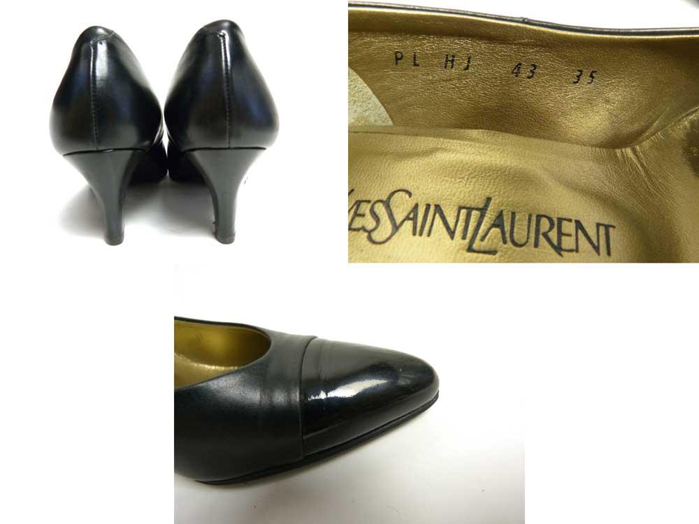 イブ・サンローラン Yves Saint Laurent レザーパンプス / コーンヒール 35(22cm相当)(レディース)【中古】