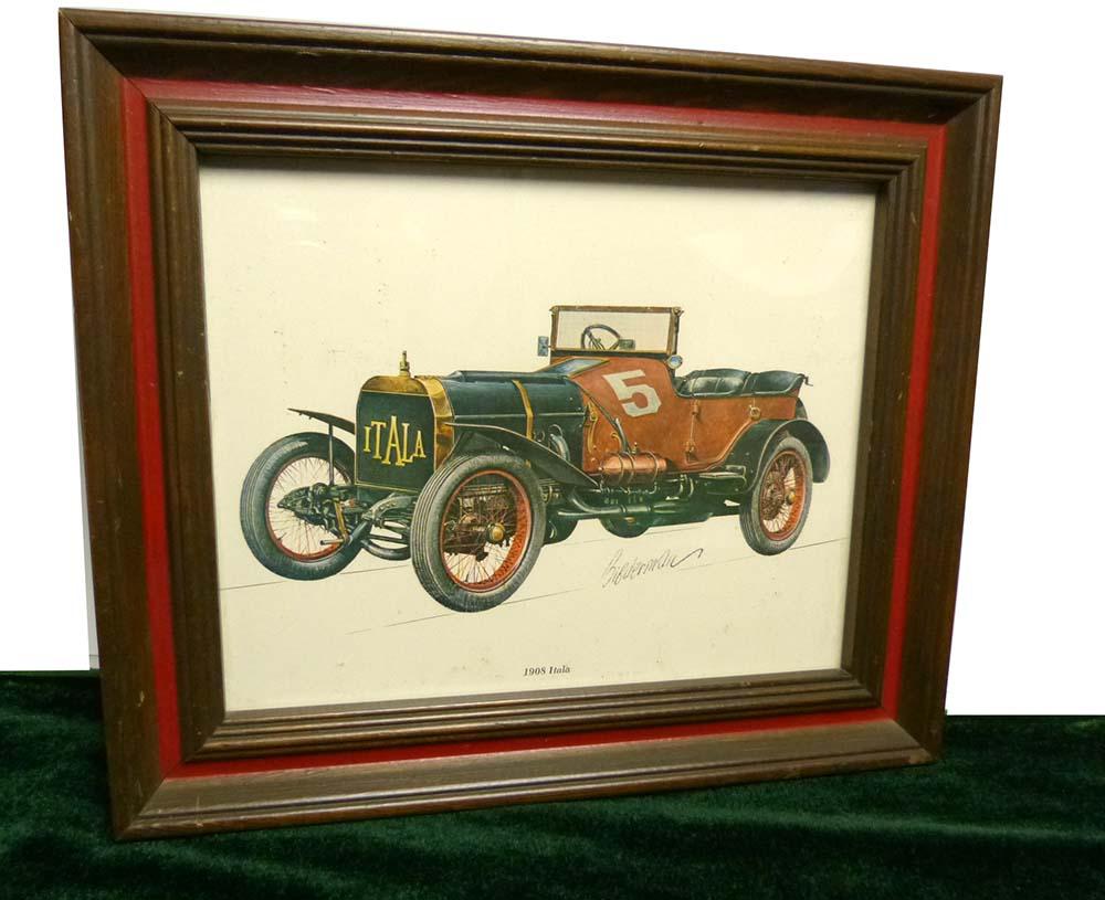USA製 A Windsor Art Product  1908 Itala by Bibderman Elmiger 木製フレーム/額縁【中古】