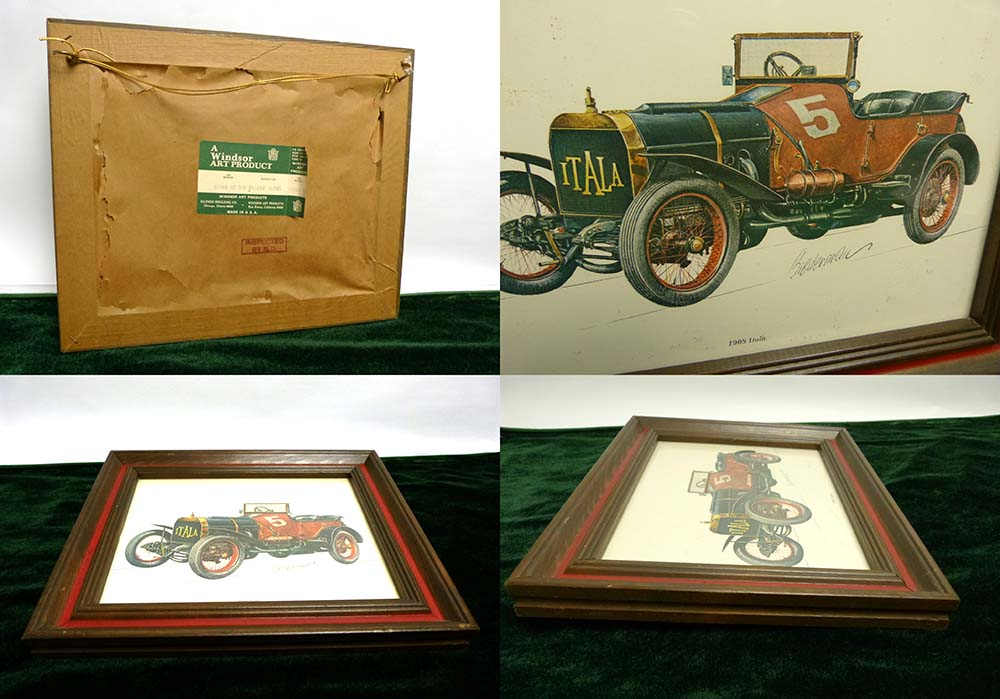 USA製 A Windsor Art Product  1908 Itala by Bibderman Elmiger 木製フレーム/額縁【中古】