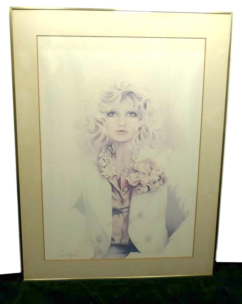 1970-80s サラムーン Sara Moon アートポスター サイン入り【中古】【送料無料】