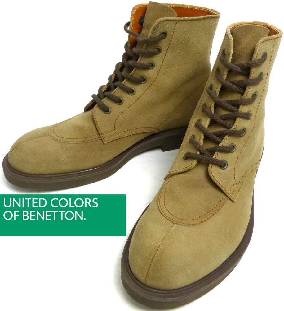UNITED COLORS OF BENETTON ユナイテッドカラーズ オブ ベネトン スエード編み上げブーツ 25(25cm相当)(メンズ・レディース)【中古】