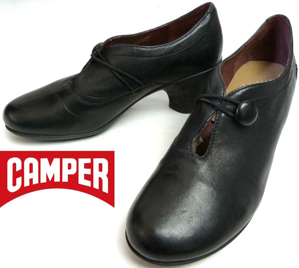 カンペール CAMPER  ストラップ レザー シューズ 36(23cm相当)(レディース)【中古】