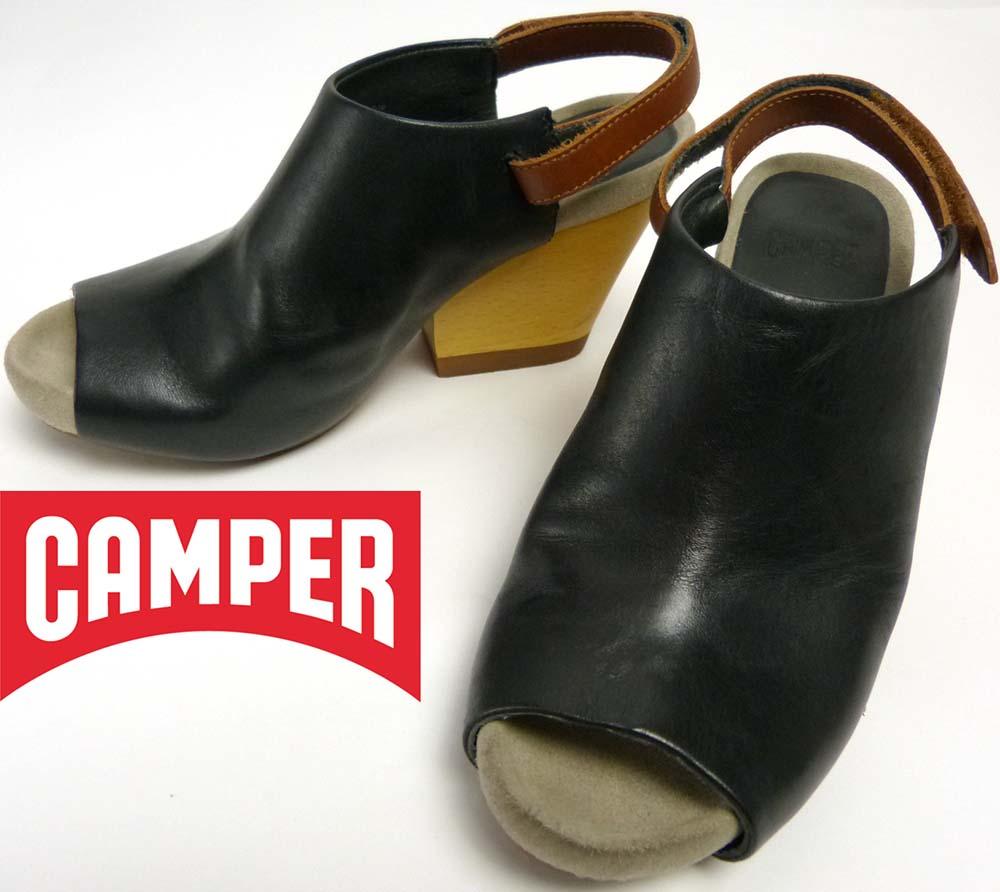 カンペール CAMPER ALLEGRA サボ サンダル アンクルストラップ 35(22.5cm相当)(レディース)【中古】