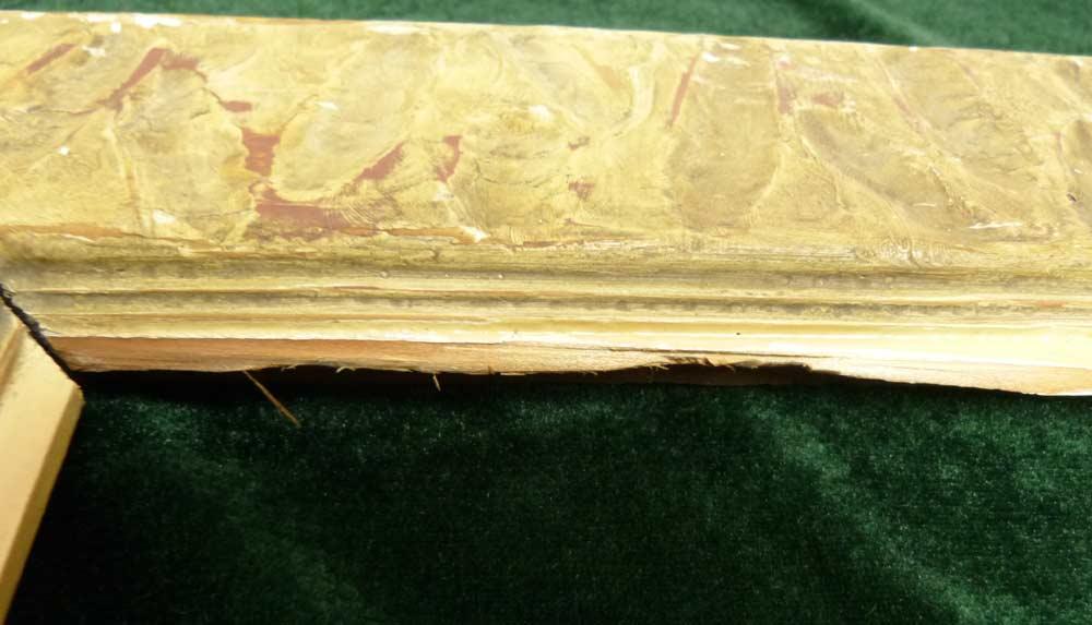 レトロ ヴィンテージ オールド シャビーな額縁 木製フレーム  油絵4号 / F4(インテリア用品)【中古】