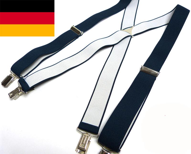 ドイツ製 クリップサスペンダー (ネイビー)( メンズ )【中古】【メール便可】