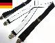 ドイツ製 クリップサスペンダー (ブラック)(メンズ・レディース)【中古】【メール便可】