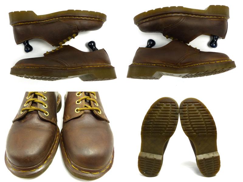 ドクターマーチン Dr.Martens 英国製 4ホールシューズ UK8(26.5cm相当)(メンズ)(茶 ブラウン)【中古】【送料無料】