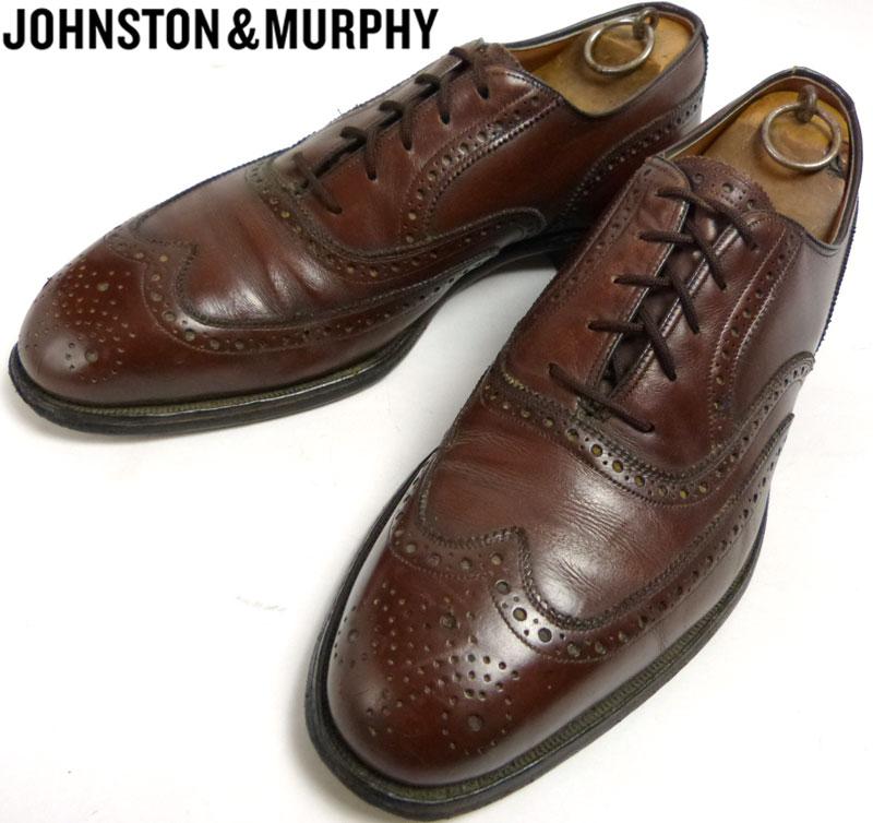 ジョンストン&マーフィー JOHNSTON & MURPHY ARISTOCRAFT アリストクラフト USA製ウィングチップシューズ 11 1/2 B/AA(28cm相当) ( メンズ )【中古】【送料無料】
