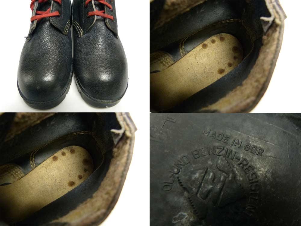 Made in GDR( 旧東ドイツ製 )シボ革 ミリタリーワークブーツ 27(27cm相当)(メンズ)【中古】【送料無料】