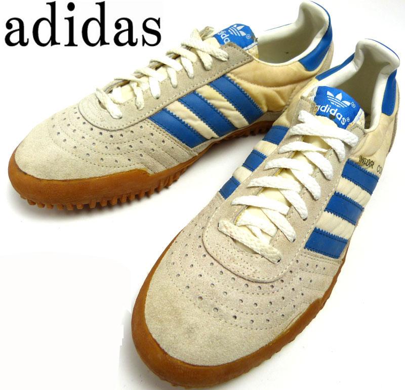 【希少】1980年代製 アディダス adidas indoorcourt インドアコート 台湾製 スニーカー US10 1/2(28.5cm相当)( メンズ )( ビッグサイズ )【中古】