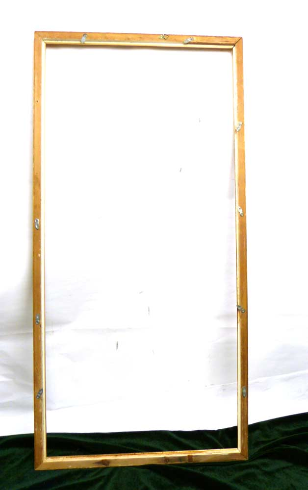 レトロ ヴィンテージ オールド シャビーな額縁 木製フレーム 油絵(インテリア用品)【中古】