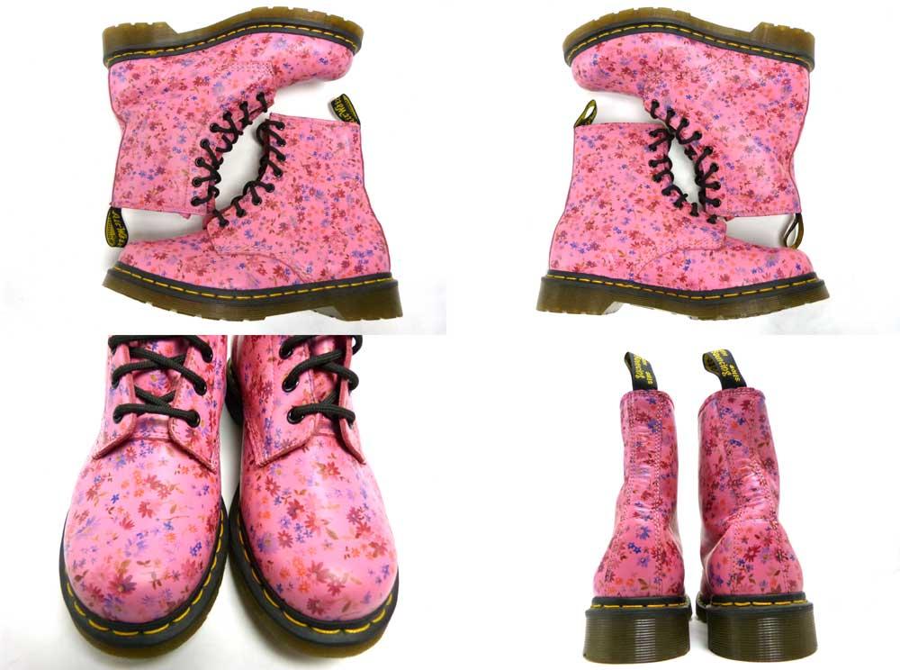 ドクターマーチン Dr.Martens 8ホール 花柄 ブーツ UK6 (25cm相当)(メンズ / レディース)【中古】【送料無料】